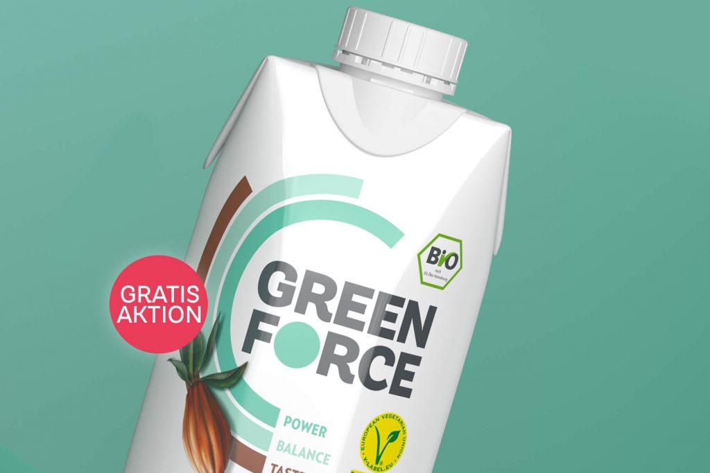 Greenforce Regenerationsdrink Verpackung