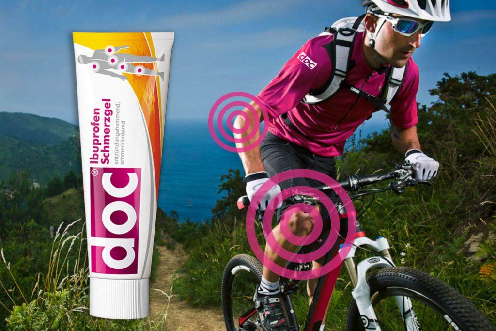 doc Schmerzgel und Fahrradfahrer