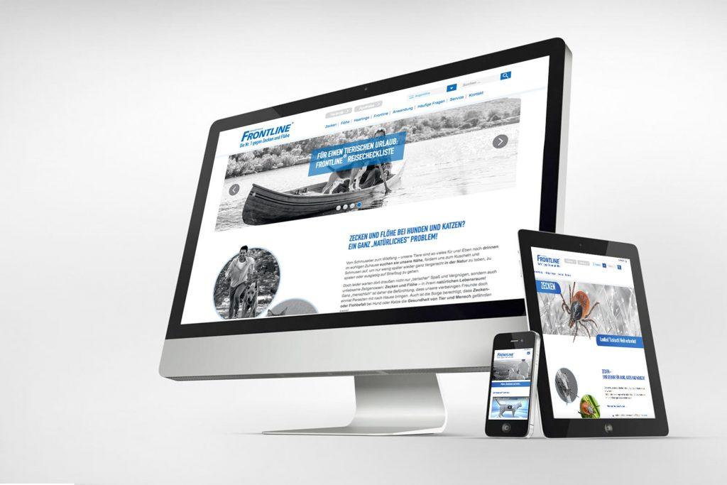 Frontline Website auf Screen, Handy und Tablet
