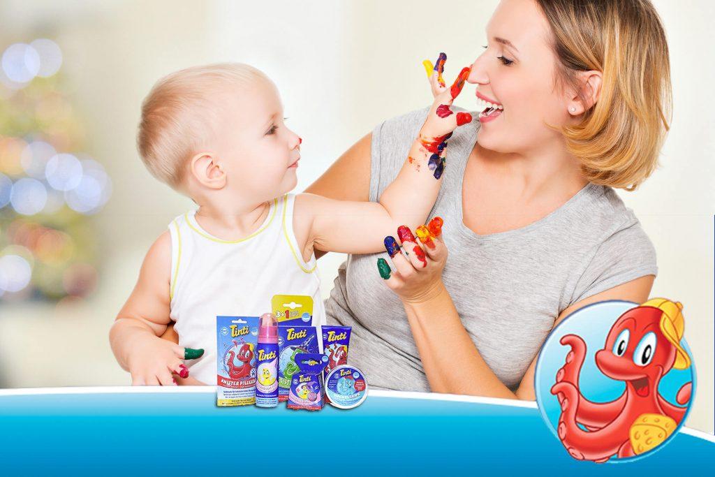 Tinti Produkte mit Baby und Mutter