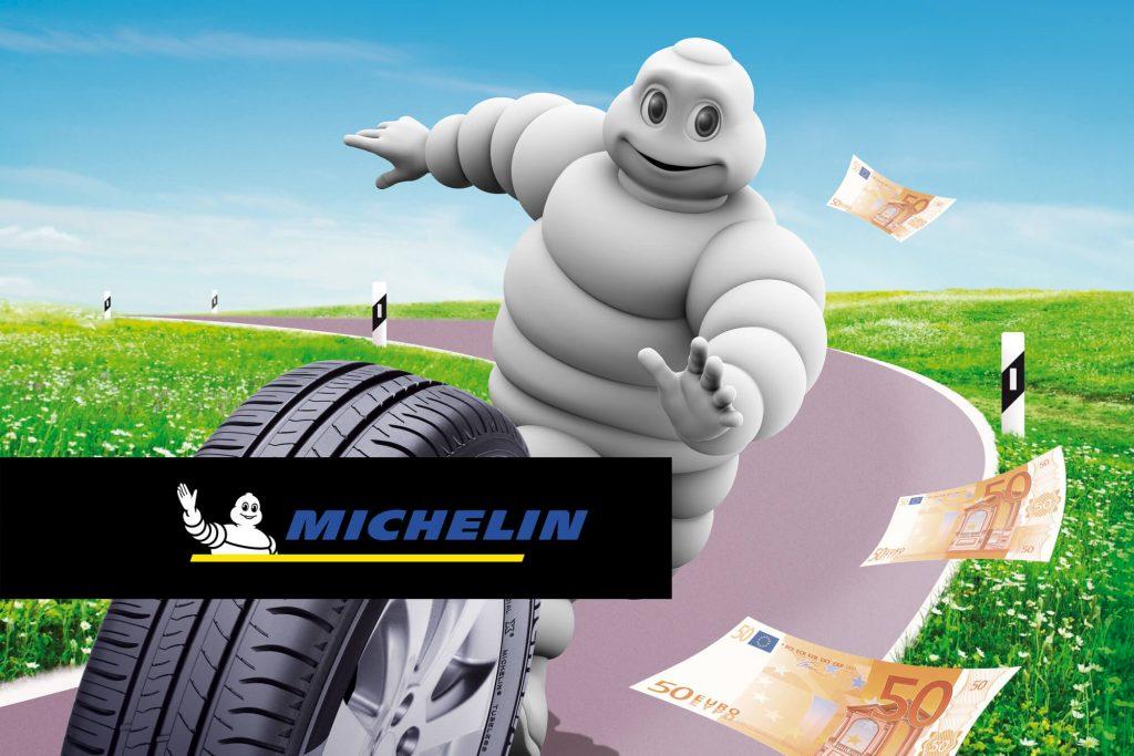Michelin Reifen und Michelinmännchen