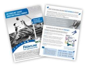 Handzettel Frontline EM Aktion 2016 Leistung