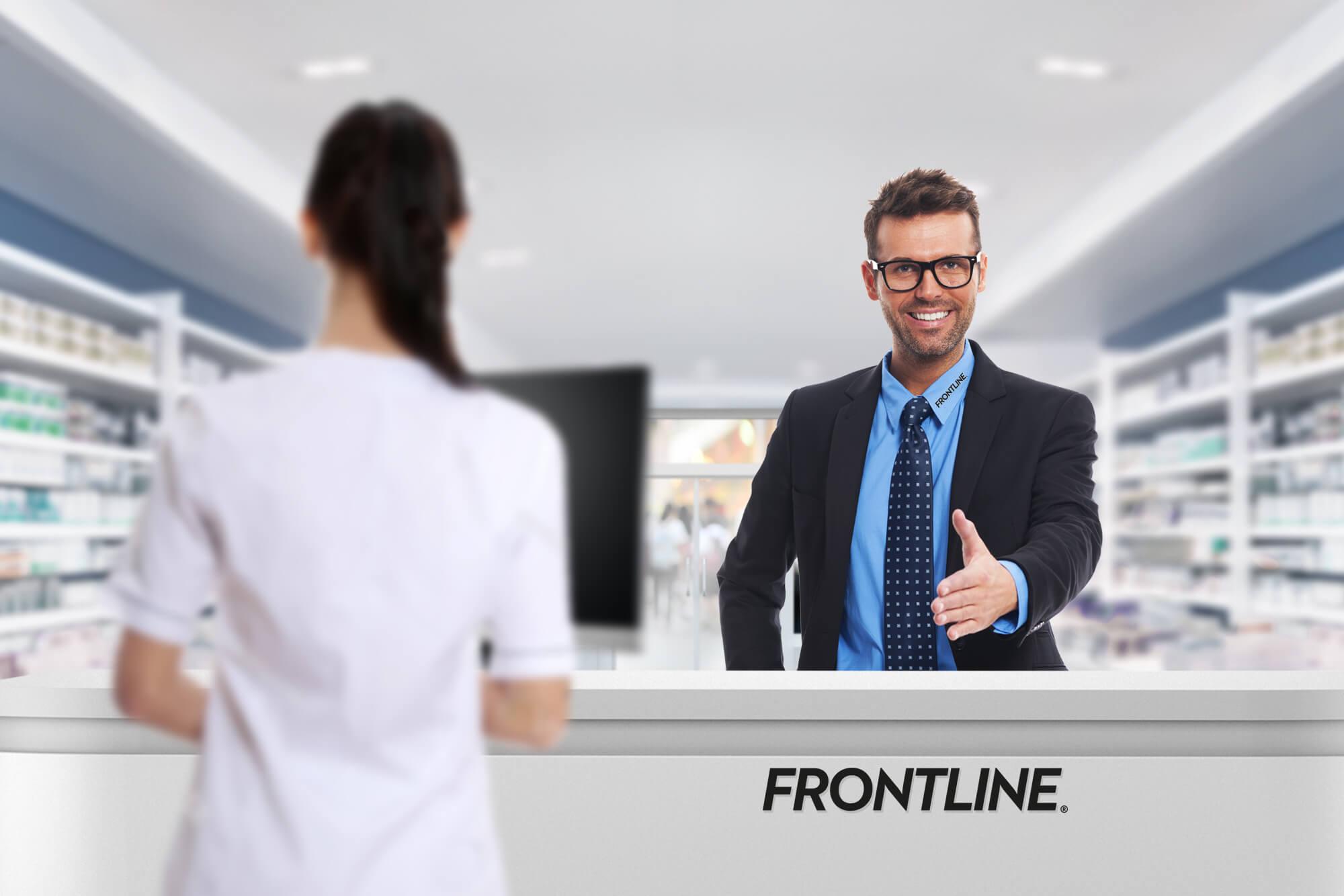 FRONTLINE Aussendienst Einführung am POS Apotheke