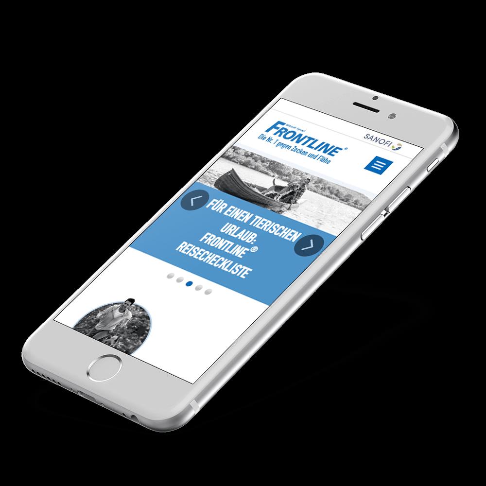 Frontline Website Relaunch 2016 iPhone Mockup