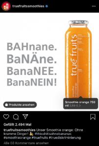 Social Commerce Beispiel von true fruits